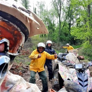 ATV Time. Driving on the mud